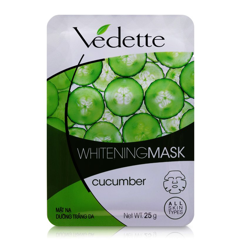Mặt nạ giấy dưỡng trắng da Vedette 25g - dưa leo - 3630450 , 01093124 , 261_1012674472 , 11900 , Mat-na-giay-duong-trang-da-Vedette-25g-dua-leo-261_1012674472 , aeoneshop.com , Mặt nạ giấy dưỡng trắng da Vedette 25g - dưa leo