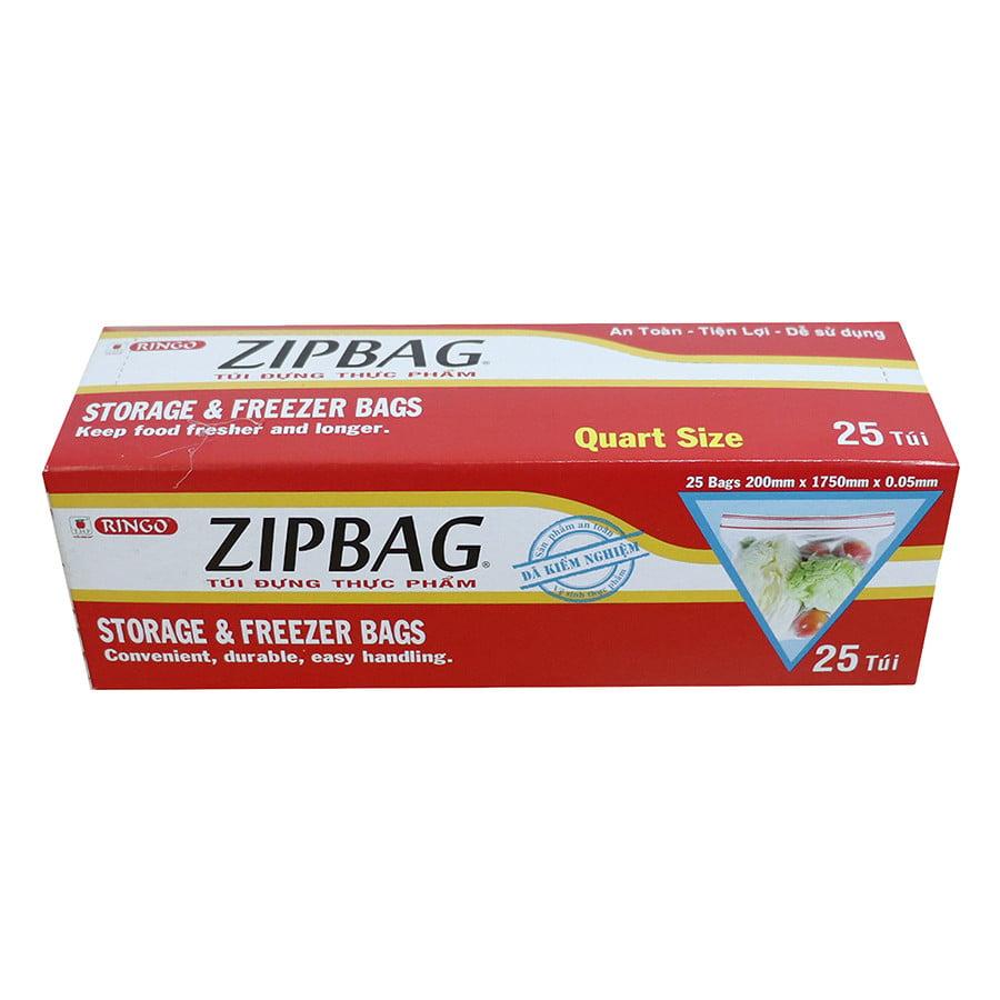 Túi Zipbag Ringo Quart - Hộp 25 Cái