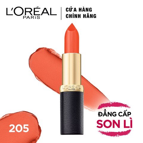 Son Lì Mịn Môi L'Oreal Color Riche Matte 205 - Orange Power (3.7g)