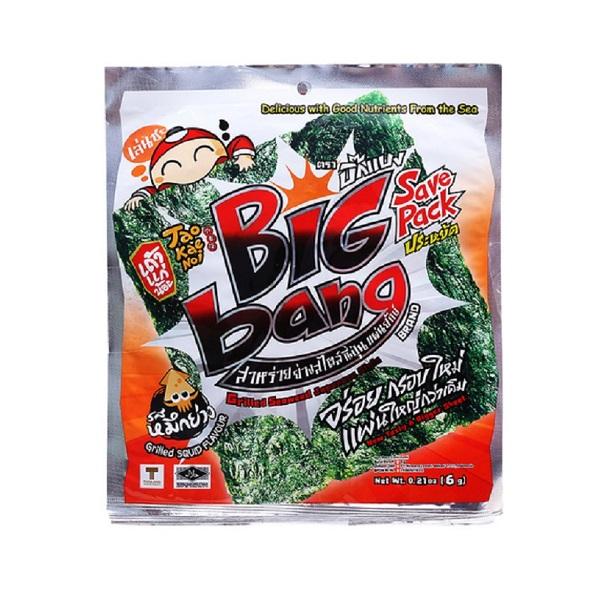 Snack Rong Biển Big Bang Tao Kae Noi 6g - Vị Mực