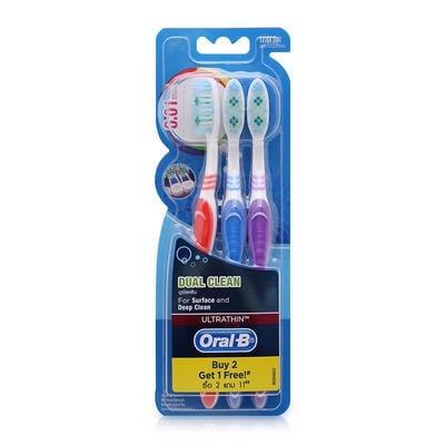 Bàn Chải Đánh Răng Oral-B Dual Clean - Vỉ 3 Cái