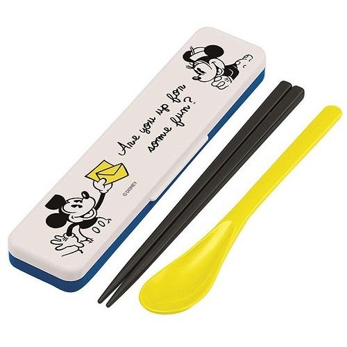 Combo Đũa Muỗng Mickey Mouse Màu Vàng