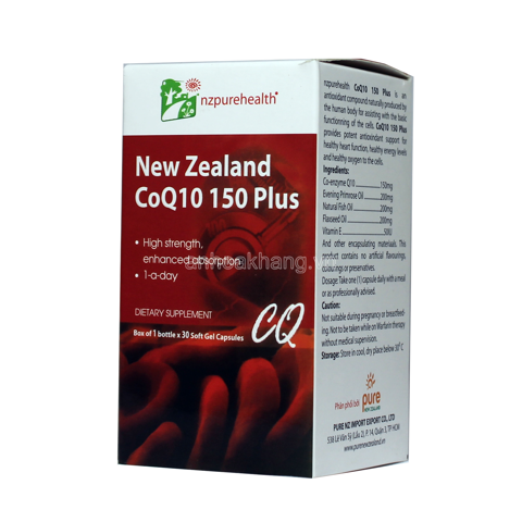 COQ10 150 PLUS NZPUREHEALTH