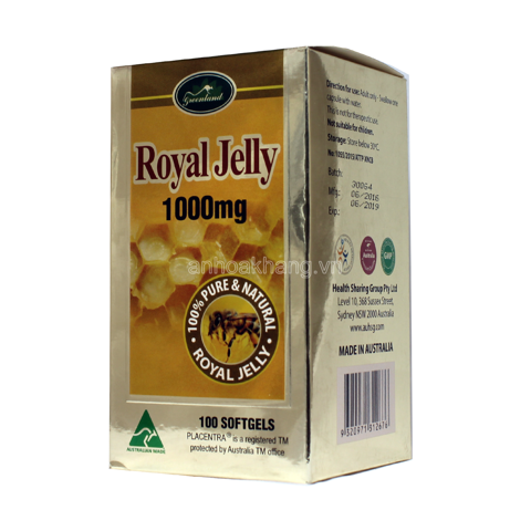 Royal Jelly 1000mg (sữa ong chúa)