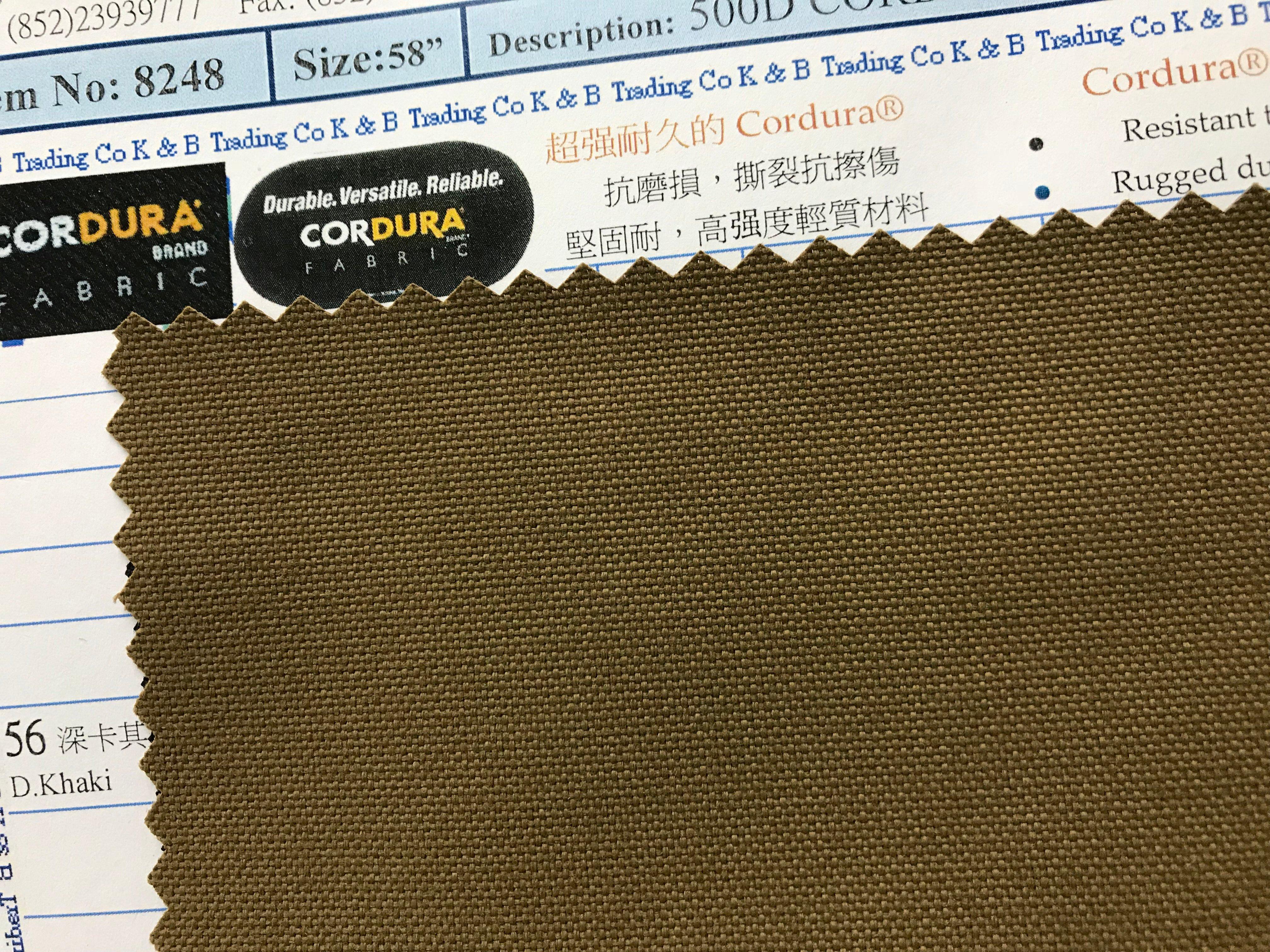 500d cordura fd with pu coating