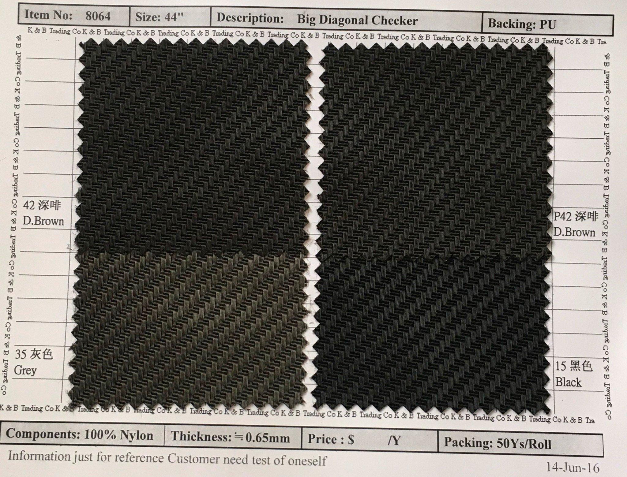 item 8064 big diagonal checker backing pu