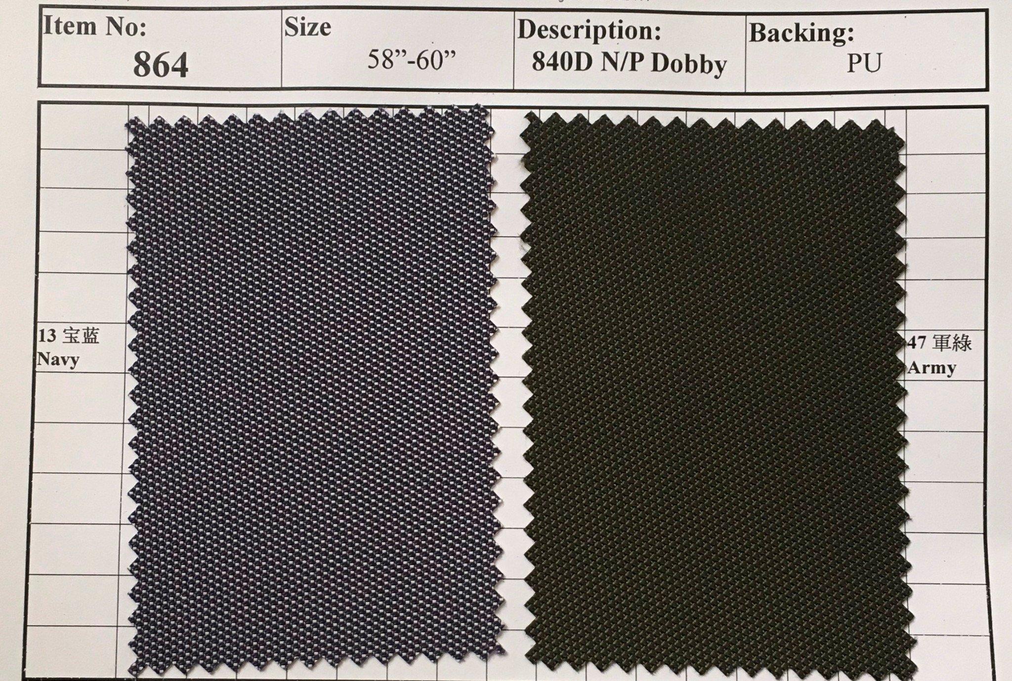 item 864 840d n p dobby backing pu