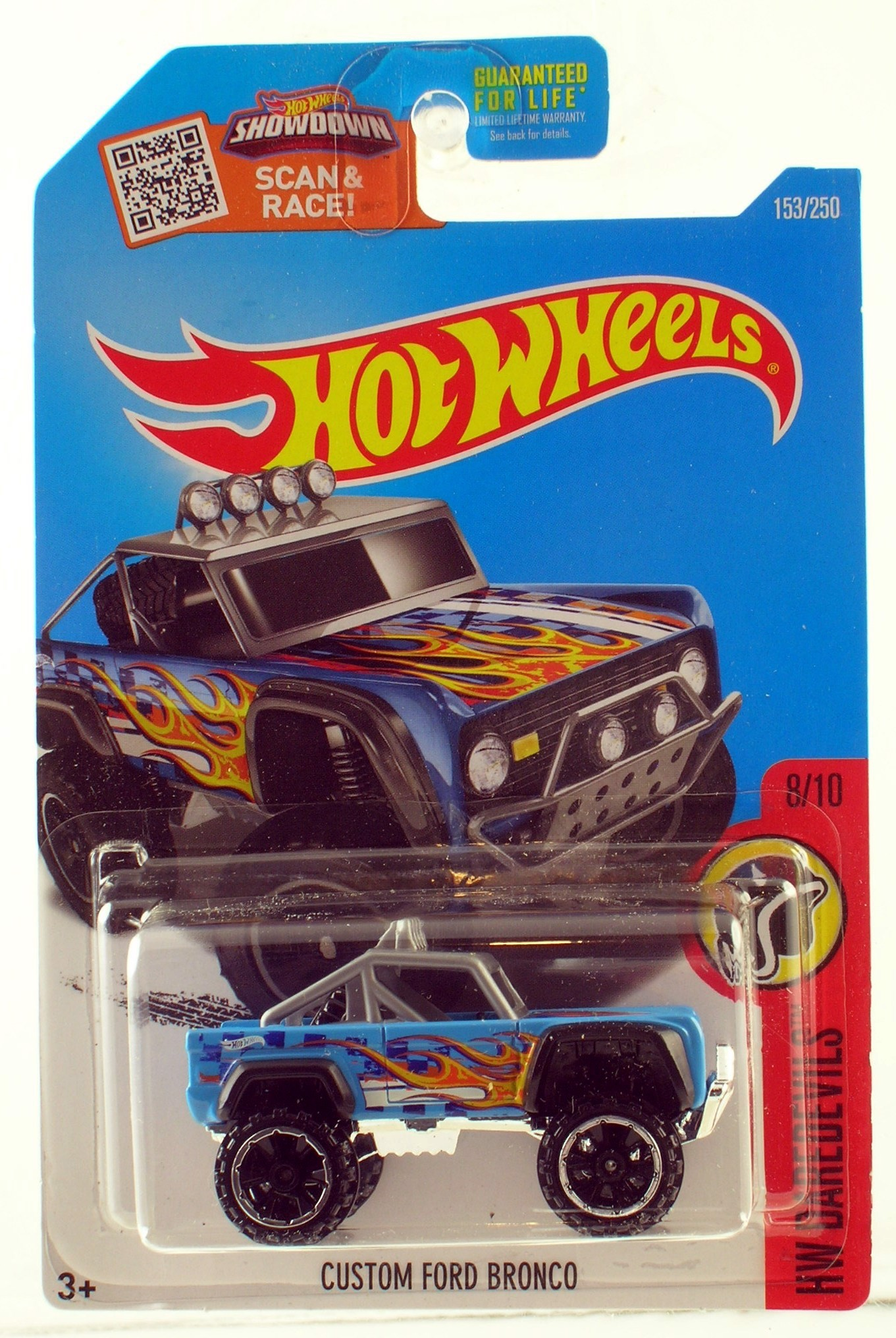 Hot Wheels 2016 Custom Ford Bronco - Blue - Xanh
