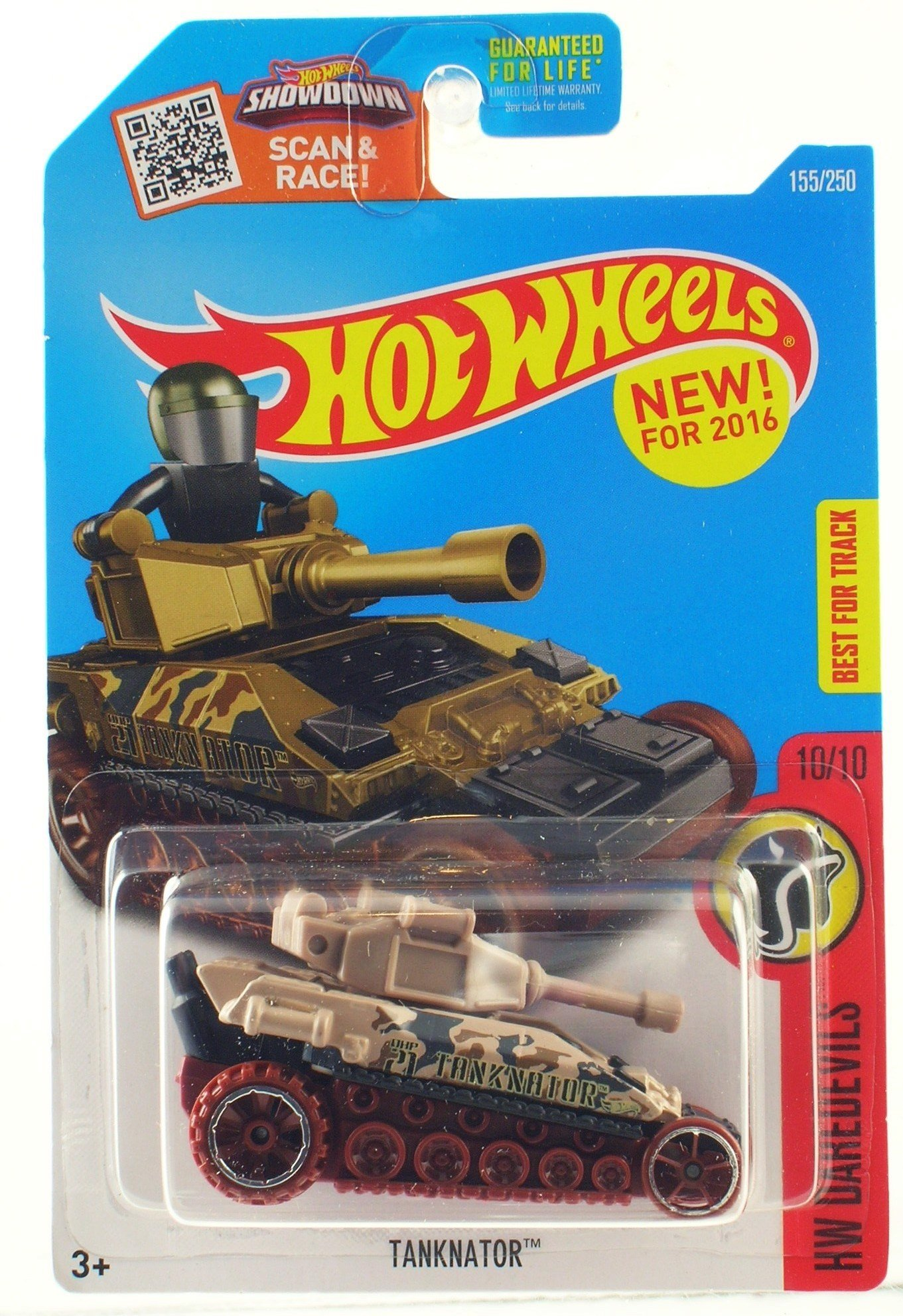Hot Wheels 2016 Tanknator - Tan