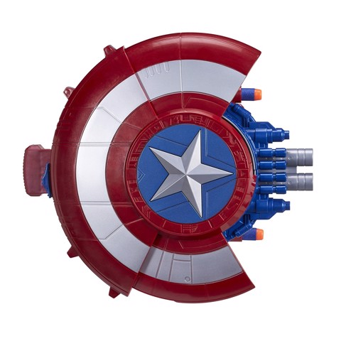 Nerf Marvel Avengers Civil War Captain America Blaster Reveal Shield