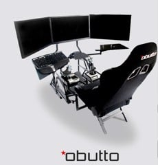 Buồng chơi game giả lập Obutto R3volution Racing SIM / Flight SIM / Workstation