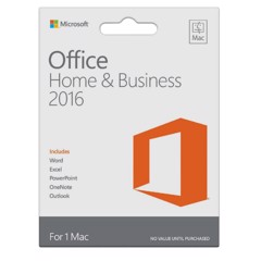 Office Mac Home Business 1PK 2016 English APAC EM Medialess P2