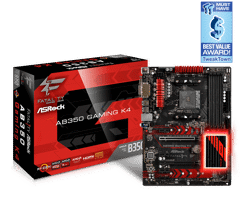 Asrock AB350 GAMING K4  for AMD Socket AM4