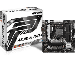 Asrock AB350M PRO4 for AMD Socket AM4