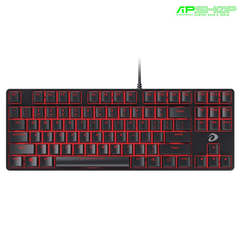 Bàn Phím Dareu EK87 Black - Red Led