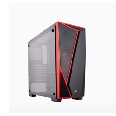 Case Corsair Spec 04 Tempered Glass Black/Red