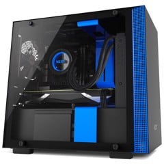 CASE NZXT H200 MATTE BLACK/BLUE
