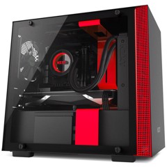 CASE NZXT H200 MATTE BLACK/RED