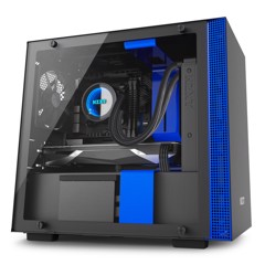 CASE NZXT H200i Matte Black / Blue