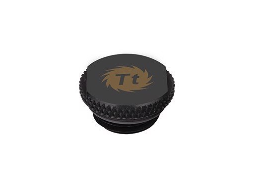 Fit Stop Thermaltake Pacific G1/4 Stop Plug w/ O-Ring – Black