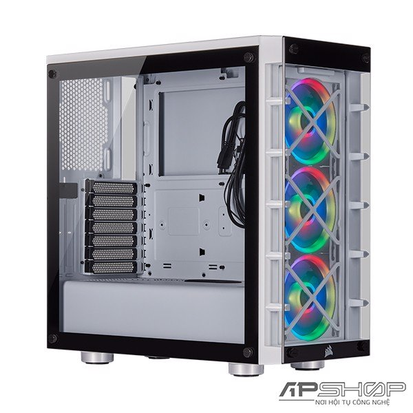 Corsair iCUE 465X RGB Mid Tower ATX White