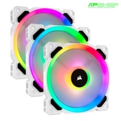 Fan Corsair LL120 RGB Led White - Kit 3 Fan