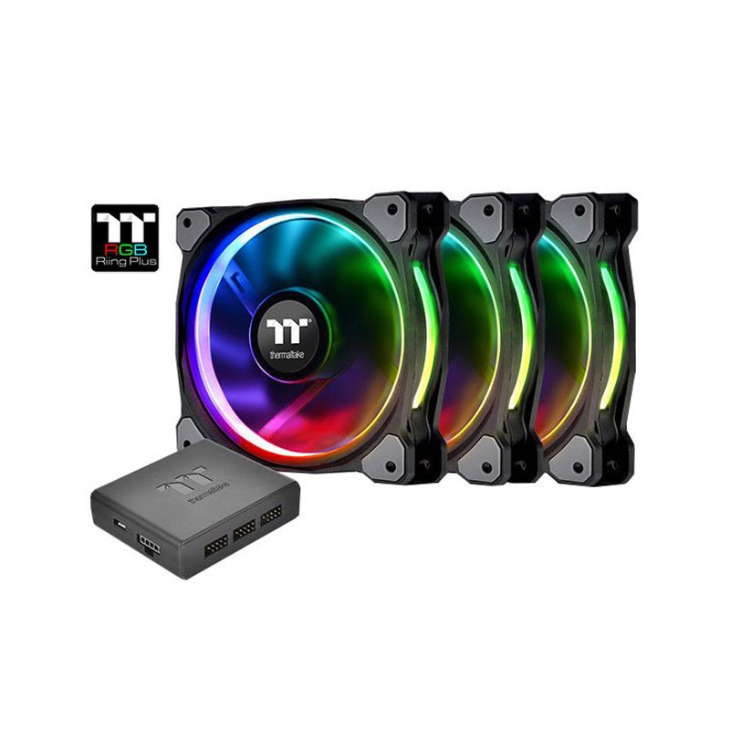 Fan Thermaltake Riing Plus 14 RGB - Kit 3 Fan