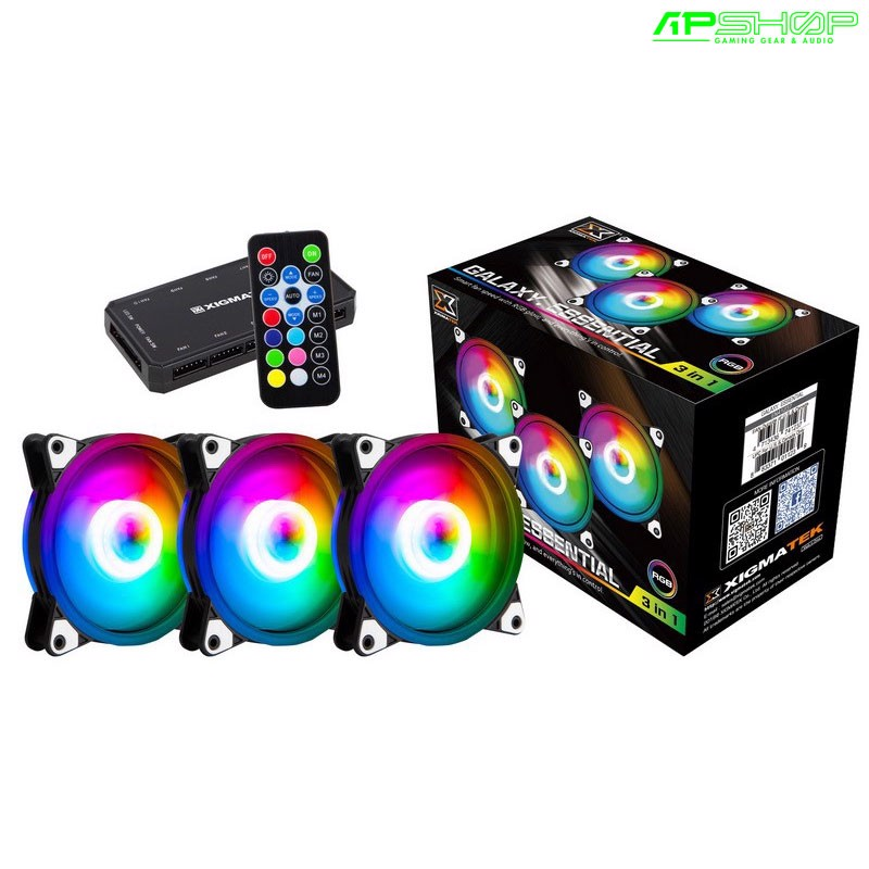 Fan Xigmatek Galaxy Essential RGB CX120 3 Fan Pack - 120mm