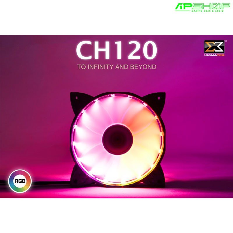 Fan Xigmatek Galaxy Premium RGB CH120 1 Fan Pack - 120mm