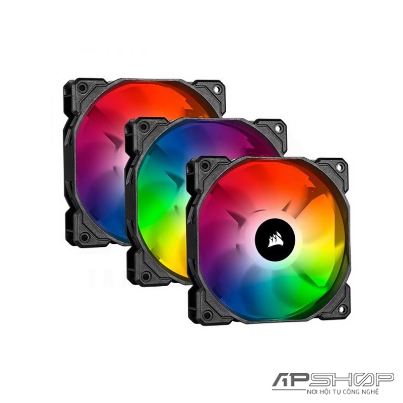 Fan Corsair SP120 RGB PRO - Triple Pack + Lighting Node Core