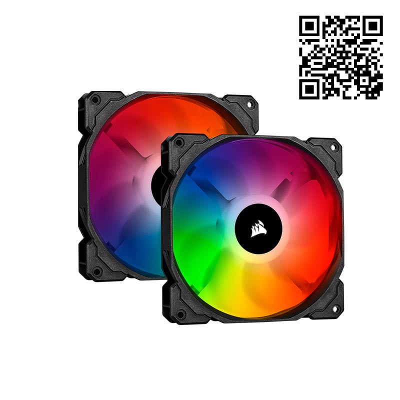 Fan Corsair SP140 RGB PRO - Dual Pack