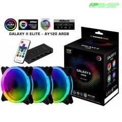 Fan Xigmatek Galaxy II Elite - AY120 ARGB ( 3 FAN , Controller , Power Hub )