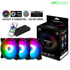Fan Xigmatek Galaxy II Essential - AX120 ARGB ( 3 FAN , Controller , Power Hub )