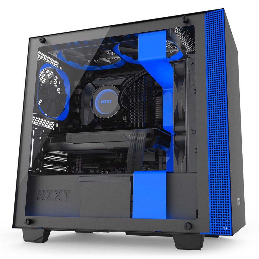 CASE NZXT H400i MATTE BLACK/ BLUE
