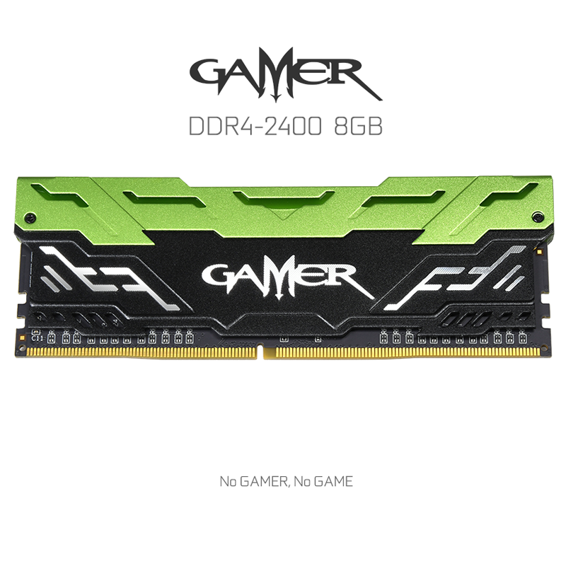 Ram Galax Gamer 8GB bus 2400 C16 DDR4 Green Led