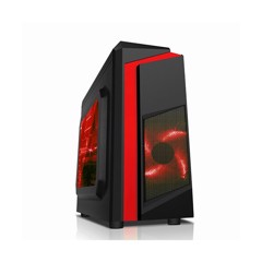 CASE SAMA eSport 2 Window - Mini ATX case Đỏ