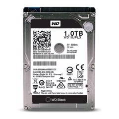 Western 1TB 7200RPM Black 32MB For Laptop