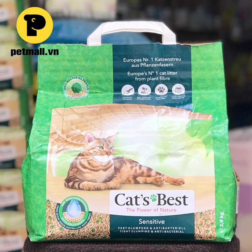Cát mèo CAT's BEST Sensitive 2.9kg - nhập Germany Catsbest