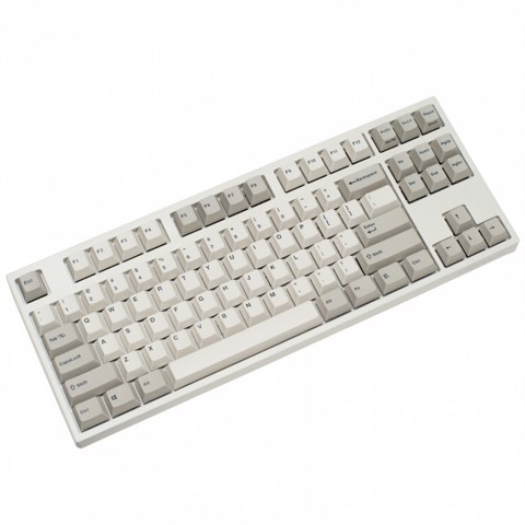 Bàn Phím Cơ Leopold - FC750R PD White / Grey - Keycap PBT Double Shot (Brown / Blue Switch)