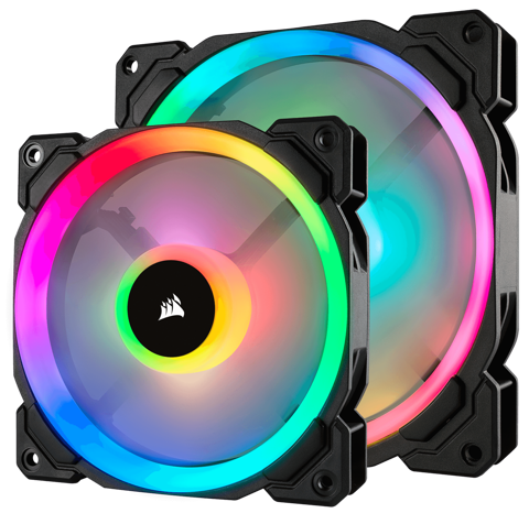 FAN CORSAIR LL140 RGB LED - KIT 2 FAN