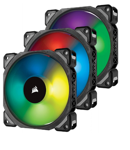 FAN CORSAIR ML120 RGB LED - KIT 3 FAN