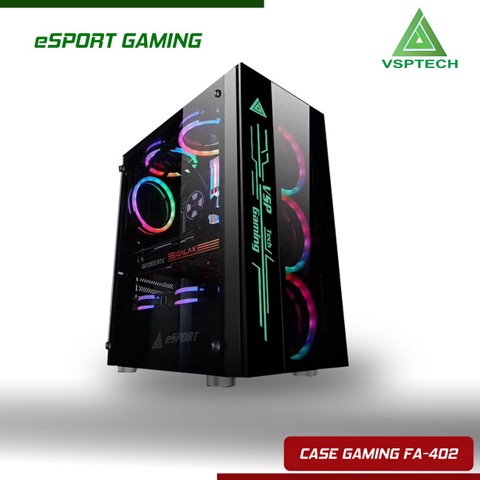 Case FA-402 eSPORT Gaming - Có Sẵn LED RGB
