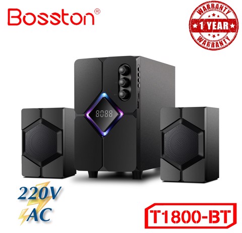 Loa Bosston Bluetooth T1800-BT 2.1 Đèn Led RGB