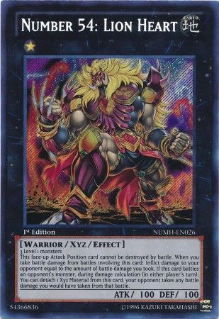 [ UK ] Number 54: Lion Heart - NUMH-EN026 - Secret Rare 1st Edition