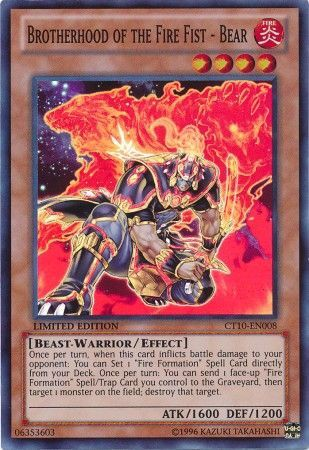 [ US ] Brotherhood of the Fire Fist - Bear - CT10-EN008 - Super Rare