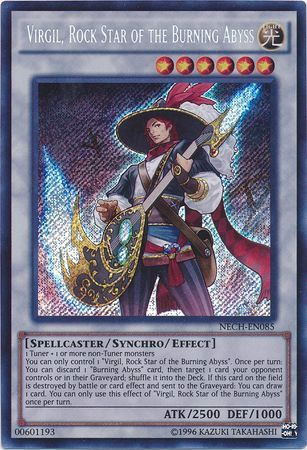[ US ] Virgil, Rock Star of the Burning Abyss - NECH-EN085 - Secret Rare Unlimited