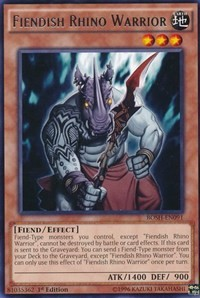 [ UK ] Fiendish Rhino Warrior - BOSH-EN091 - Rare 1st Edition