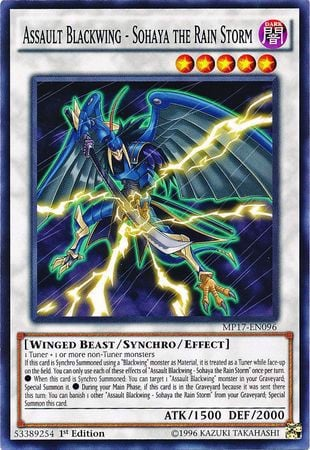 [ US ] Assault Blackwing - Sohaya the Rain Storm - MP17-EN096 - Common 1st Edition