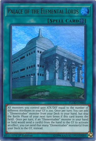 Palace of the Elemental Lords - FLOD-EN060 - Ultra Rare 1st Edition