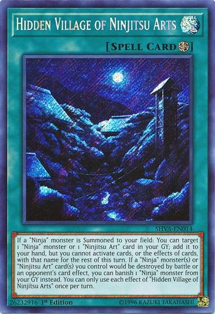 [ UK ] Hidden Village of Ninjitsu Arts - SHVA-EN014 - Secret Rare 1st Edition